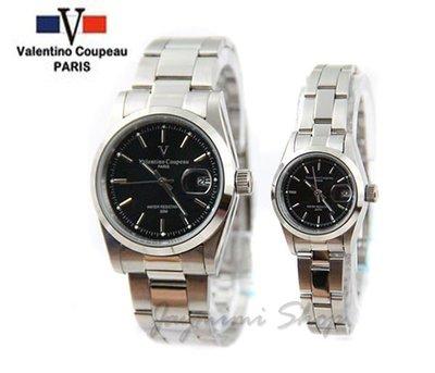【JAYMIMI傑米】Valentino范倫鐵諾古柏不鏽鋼腕錶-時尚極簡石英錶 釘子面 兩支免運 對錶