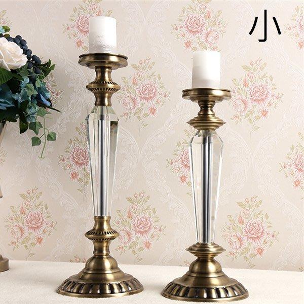 5Cgo【批發】含稅會員有優惠 529743238835 高檔歐式新古典後現代裝飾燭台蠟燭別墅玄關茶几餐桌擺件浪漫-小號