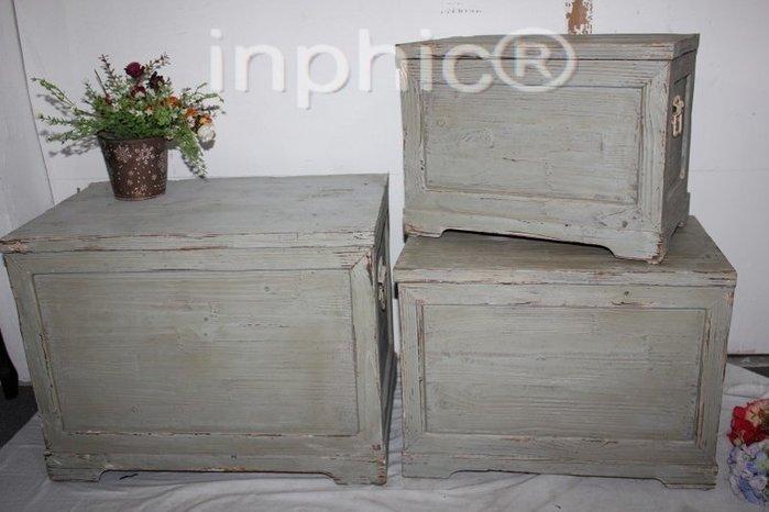 INPHIC-仿舊實木工藝 仿舊箱子 古董箱3件套