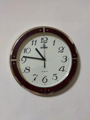 早期鐵力士 TELUX  掛鐘  直徑33公分