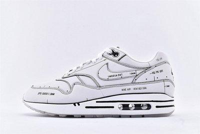 Nike Air Max 1 Tinker Schematic Sketch To Shelf 黑白 手稿 二次元 氣墊 慢跑鞋 CJ4286-100 男鞋