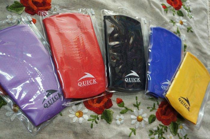 Kini*QUICK矽膠泳帽-簡約單色素面款-七色[紫/紅/黑/黃/寶藍/銀/白]-好戴顆粒膠帽-特價一頂150元