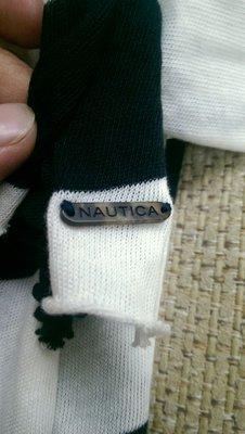 全新 Nautica 黑白條紋 圍巾