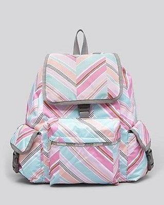 美國名牌Lesportsac 7839 新款多彩粉色全新真品防水尼龍布(大款)後背包現貨在美特價$2580~含郵