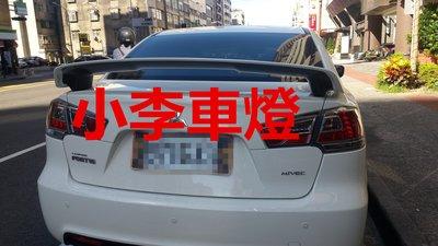 ~李A車燈~全新 外銷精品件 三菱 LANCER FORTIS IO 美規版尾翼 素材件ABS(烤漆另計)