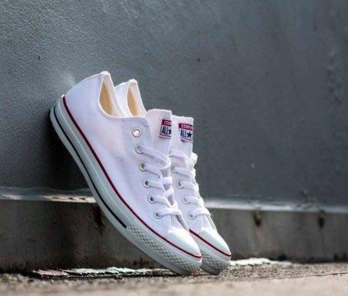 【吉米.tw】Converse All Star 情侶鞋 白色 低筒 基本款 帆布鞋 小白鞋 M7652C AUG