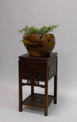 = 東方木 = 柚木家具 #2實木花盆 43公分直徑 實用美觀 現貨不多