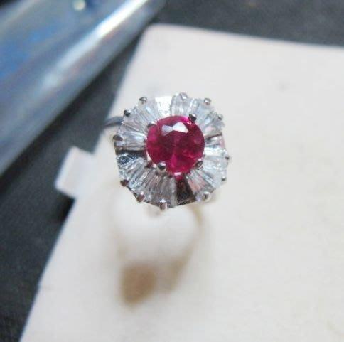 [一品軒促銷品]紅寶石鑽石切面豪華造型活動戒指