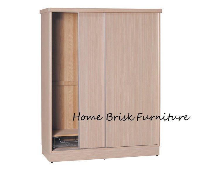 【宏興HOME BRISK】維拉妮卡5尺X7尺白橡色耐磨衣櫃,台北、桃園、基隆市區免運費《UU新品》