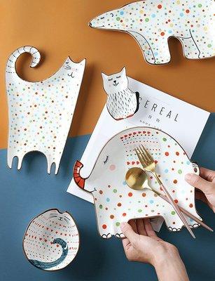 兒童碗盤 陶瓷動物盤 創意可愛點心盤 寶寶米飯碗(6入任選)_☆找好物FINDGOODS ☆
