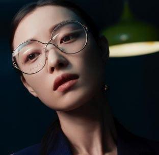 安安精品保證正品~新款GUCCI眼鏡框女士時尚潮流金屬明星同款光學眼鏡架 GG0254OA