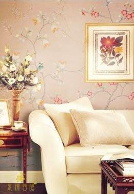 【芮洛蔓 La Romance】手繪絲綢壁紙 L17