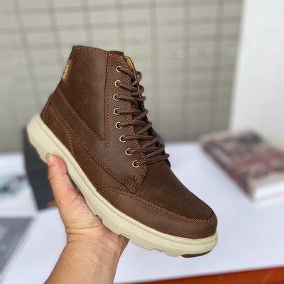 正品CAT 新款工裝靴高幫ease輕便款經典男靴真皮防滑休閒靴P723263 39-44碼