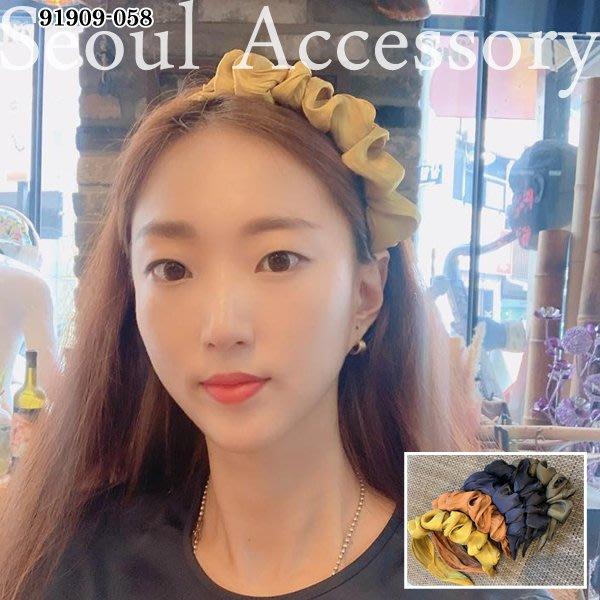 首爾飾集 正韓國製 純色皺褶澎澎髮圈髮箍91909-058