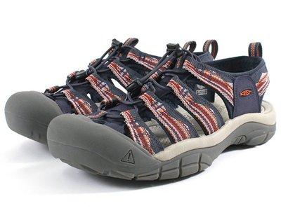 =CodE= KEEN NEWPORT H2 SANDALS編織彈性綁繩護趾防水包頭涼鞋(藍灰紅)1023416 拖鞋男