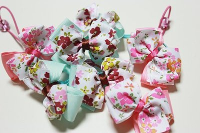 【批貨達人】兒童花花雙層蝴蝶結髮束 髮...