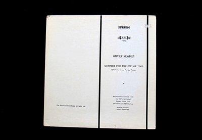 絕版黑膠唱片----OLIVIER MESSIAEN--Quartet For The End Time----1箱