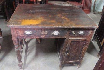 早期 書桌 台灣檜木 黃檜 桌面一塊板