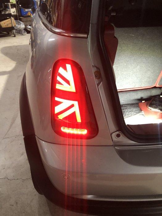 炬霸科技 車燈 MINI COOPER R50 R52 R53 LED 尾燈 後燈 米字 國旗 改裝 01-06 年
