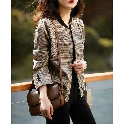 XG 時尚休閒運動風 精緻對格工藝 休閒外套 格紋外套