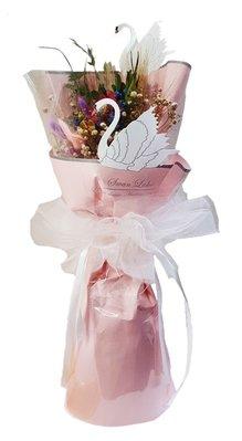 娃娃屋樂園~💐天鵝系列/非你莫屬乾燥花束 每束700元/畢業熊/學士熊/畢業拍照花束