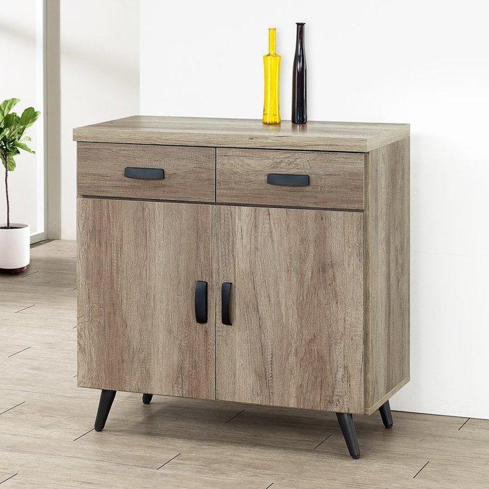 布里安2.7尺碗盤收納櫃(古橡木) 餐櫃 收納櫃【Yostyle】CB-1861-P16