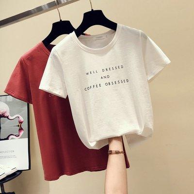 白色t恤女 短袖2019夏季新款上衣寬鬆韓版百搭純棉學生半袖體恤潮