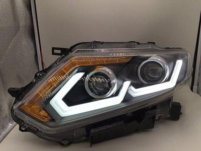 五股JK極光HID LED日產 NEW X-TRAIL 雙魚眼 雙 日行燈 LED方向燈 大燈總成 H7 大燈 裕隆