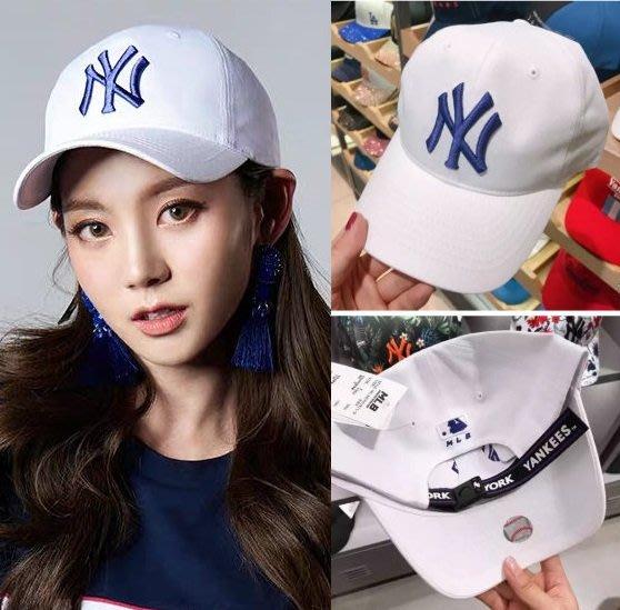 MLB 紐約洋基隊 TWICE 飄帶棒球帽 NY白色 現貨!!