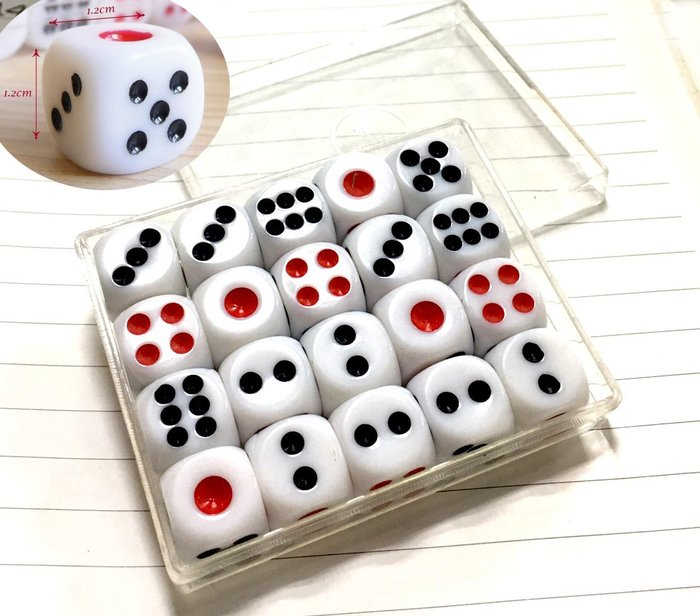 【洋洋特價 1號骰子 益智遊戲 桌遊道具】全新娛樂用骰子 麻將遊戲 賭具玩樂 遊戲專用 骰盅用骰子遊樂玩家