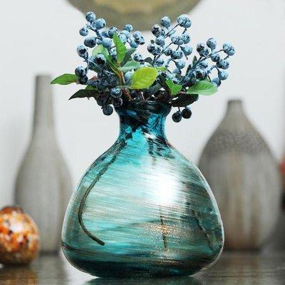 YEAHSHOP Z3千花古法金沙玻璃北歐小花瓶歐式花插 餐桌擺設花器Y185