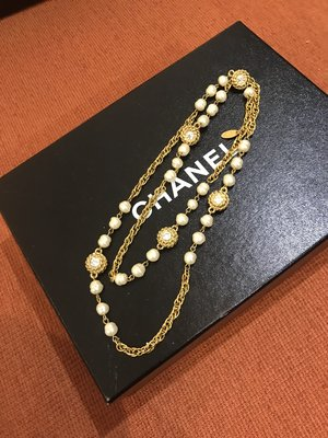 BOX ROOM 二手名品 / CHANEL 真品 超美 Vintage 珍珠 項鍊