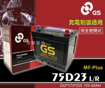 【茂勝電池】統力 GS 75D23L 75D23R PLUS 免加水 充電制御用 Camry Rav4 豐田 適用