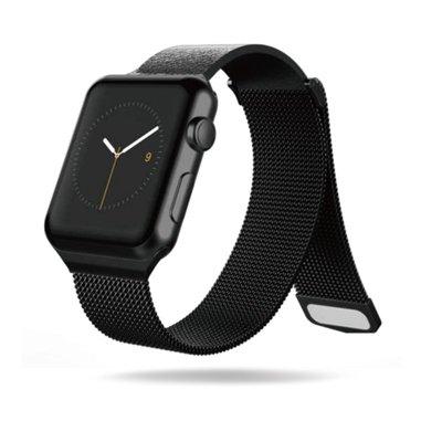 丁丁 Apple Watch 234 時尚真皮金屬拼接米蘭尼斯智能手錶回環磁吸錶帶 38 42 44 佩戴舒適 替換腕帶