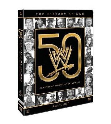 ☆阿Su倉庫☆WWE摔角 The History of WWE: 50 Years of Sports Entertainment DVD WWE摔角50年紀念
