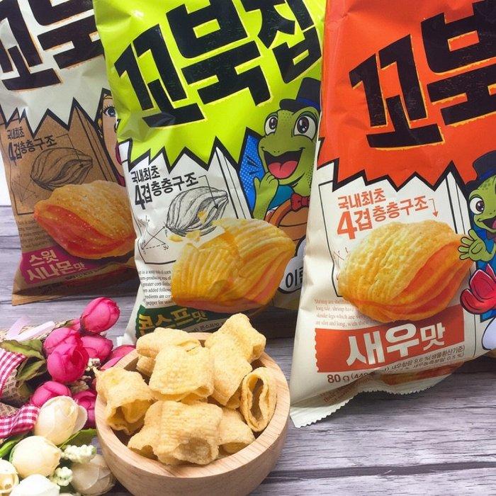 韓國好麗友ORION好麗友 烏龜玉米脆餅(80g)兩種口味