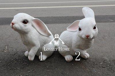 (台中 可愛小舖)田園鄉村風格-波麗製仿真雪白大眼睛兔子(小)波麗娃娃擺飾裝飾可愛兔子愛好者收藏童話動物風格