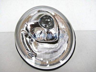 ~~ADT.車燈.車材~~福斯 VW BEETLE 金龜車 98-05 原廠型晶鑽魚眼大燈一顆2000 歐規專用