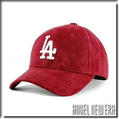 【PD帽饰】【ANGEL NEW ERA 】MLB Old Fashioned Cap LA 道奇 類 麂皮 老帽 酒紅 鴨舌