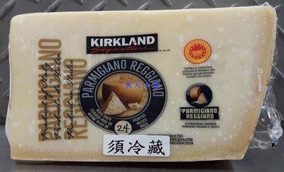 美兒小舖COSTCO好市多代購~KIRKLAND 帕瑪森蘿吉諾乾酪-24個月熟成(秤重商品-約0.65kg/塊)