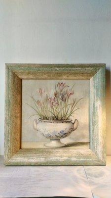 義大利進口~ 法式鄉村風老木頭花卉版畫 壁畫 壁飾(經典款) ~特價