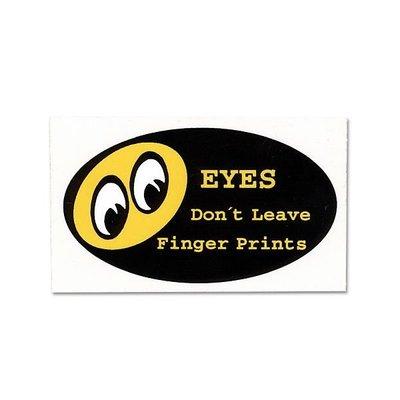 (I LOVE樂多)MOONEYES Dont Leave Finger Prints (不要留指紋在我車上)汽車窗貼