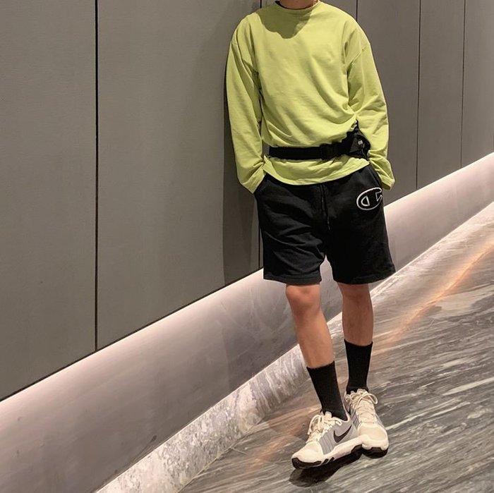 【NoComment】時尚休閒流行 質感簡約 青蘋果色高質感素面長袖T Uniqlo Nike