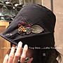 韓國製時尚帽保暖帽皺褶線條輕量帽走秀帽毛...