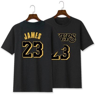 💖詹皇LeBron James詹姆士短袖棉T恤上衣💖NBA湖人隊Nike耐克愛迪達運動籃球衣服T-shirt男857