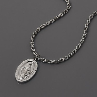 SOLO Immaculate Conception Necklace 天主教聖母項鍊 銀色 藤原本舖