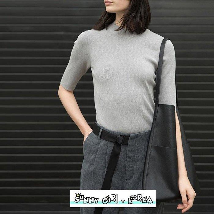 托特包*Sunny Girl*歐美設計款簡約風多口袋大容量單肩包 2020二月新款 - [WB0547]