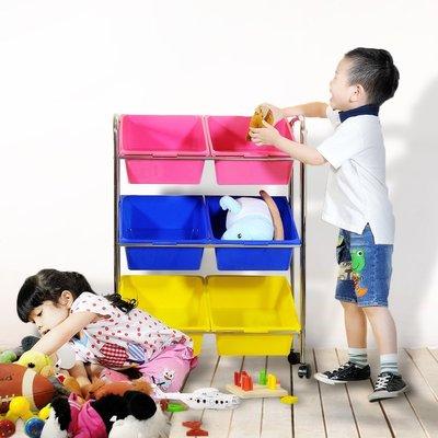 臥室/客廳/電腦/辦公【居家大師】BN99 可移式6格玩具收納組 工作桌電腦桌全身鏡書桌鞋櫃