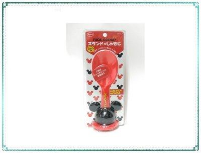 【Q寶寶】日本 Disney迪士尼飯勺 飯匙附造型立體飯匙底座 米奇_現貨