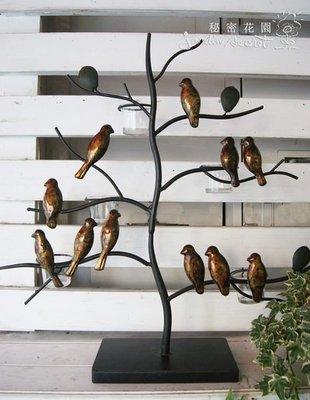 小鳥五燭臺--秘密花園--進口鄉村風樹...